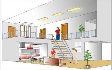 建築立体図イラスト例